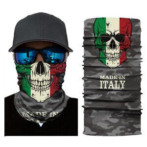 Bandana tubolare microfibra scaldacollo foulard traspirante italia teschio