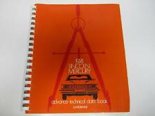 74 Lincoln Mercury Advance Technical Data Book USED 1974