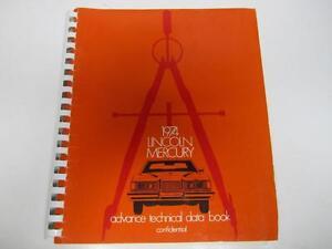 74 Lincoln Mercury Advance Technical Data Book USED 1974