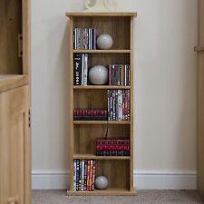 Nero solid oak furniture CD DVD storage tower rack