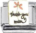 Italian Charm Thank You Mom Mother Flower Family Love