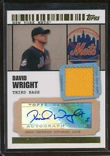 DAVID WRIGHT 2009 TICKET STARDOM JERSEY 2/10 AUTOGRAPH