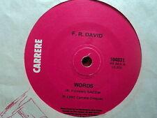 "F.R. David ""Words"" 70s Classic Oz 7"""