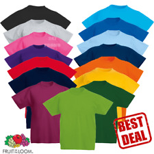 Fruit Of The Loom T-SHIRT TEE CHILDREN BOYS GIRLS SCHOOL PE COLOURS KIDS SIZES