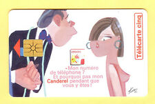 Télécarte 5U, G210A, CANDEREL TELEPHONE, 09/1996, (vide)