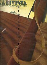 La rivista ill. del popolo d'italia-1936 n.10 areonautica, A.O.I.,Nuvolari,Forlì