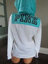 Victoria's Secret!!! PINK Zip Hoodie Sweatshirt SIZE:LARGE