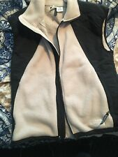 New listing mens north face vest medium, Black And Beige