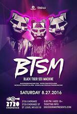 BLACK TIGER SEX MACHINE 2016 ST. LOUIS CONCERT POSTER -Electro Trash/House Music