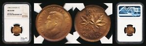 1940 CANADA SMALL CENT >>NGC MS66 RED&BROWN LUSTROUS BEAUTY<< NO RSRV