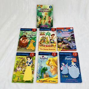 7x Disney Level 1 One Lot of Kid Children Books Tinkerbell, Little Einsteins