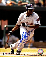 Matt Lawton Autographed / Signed Hitting 8x10 Photo