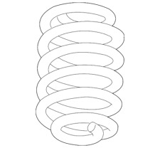 Genuine GM Coil Spring 23154237