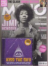 MOJO MAGAZINE + CD AUGUST 2017, JIMI HENDRIX, THE CLASH, U2, ROGER WATERS.