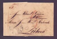 Vorphilabrief Bremen 1824 mit großem Schlüssel-Stempel nach Lübeck (845)