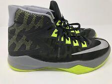 Mens Nike Zoom Devosion Basketball high top tennis Shoes Size 8.5 Black/Yellow