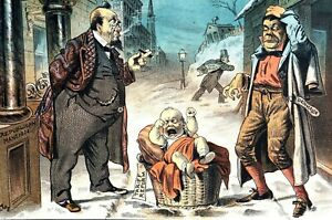 Tariff Reform 1884 WHO WANTS the CRYING BABY Rich Republicans Poor Democrat Puck