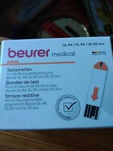 Blutzuckerteststreifen 2x25 für BEURER GL 44/50 und 50 EVO  VD mind. 07/2022 Neu