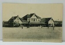 Sendai Japan Train Station RPPC Japanese Postcard 1915