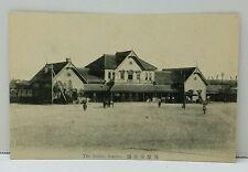 Sendai Japan Train Station RPPC Japanese Early 1900's Postcard
