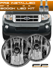 LED + 2007-2012 FORD ESCAPE Clear Replacement Fog Light Housing Assembly Pair