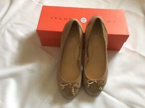Ivanka Trump leather ballet pumps