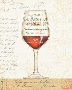 Wine by the Glass I French Art Paper, Canvas or Stretched Canvas