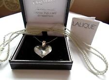 PENDANT LALIQUE COEUR EXQUISITE PENDANT  GOLD 9CT CHAIN -RARE
