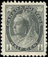 1898 Mint H Canada F+ Scott #74 1/2c Queen Victoria Numeral Issue Stamp
