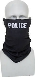 Black Police Multi-Use Tactical Neck Gaiter Face Mask Balaclava Cycling Running