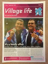 LONDON 2012 GENUINE VILLAGE LIFE NEWSPAPER ISSUE 10 PARALYMPIC GAMES 7SEP *RARE*