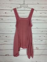 En Creme Anthropologie Women's Sz S Small Pink Lace Sleeveless Spring Summer Top