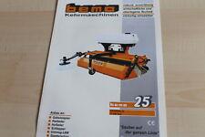 140453) Bema Kehrmaschinen Kehrwalze 580 Prospekt 03/2009