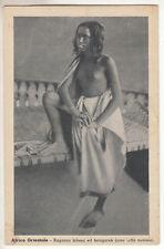CARTE POSTALE AFRICA ORIENTALE RAGAZZA BILENA ED HANGAREH NU NUE
