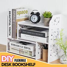 Expandable Desktop Bookshelf Bookcase Organizer Rack Office Storage Shelf Tool