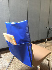 10 Large Blue Chair Pocket Seat Sack for School Books High Qualiity