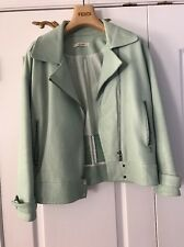 J Brand Durham Green Lamb Leather Moto Biker Jacket Aero XS $1425