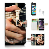 ( For iPhone 7 ) Wallet Case Cover P2239 Guitar