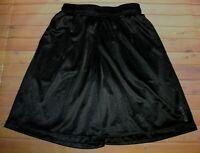 Reebok Athletic Basketball Drawstring Mesh Long Shorts Mens Small Black Pockets