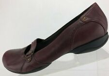 Clarks Privo Mary Jane Casual Burgundy Comfort Leather Walking Flats Womens 8 M