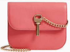 TOPSHOP (Italy) Amelia Premium Mini Leather Shoulder Bag Pink NWT $140