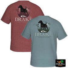 NEW DRAKE WATERFOWL SYSTEMS STANDING BLACK LAB LOGO S/S T-SHIRT TEE