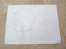 ASHLEY  Black Veil Brides 1 Of A Kind Fan Drawing Signed Autographed 8.5 x 11