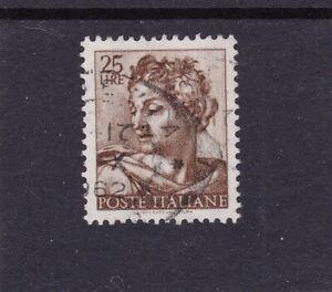 Francobolli Italia - Michelangiolesca - 1961 Lire 25 poste italiane INTROVABILE