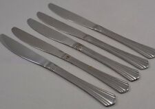 Stainless Wm Rogers IS Symmetry Fan Tip Banded Heal Sleek Smooth 5 Solid Knives