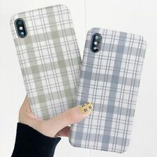 Lattice Canvas Cloth Retro Back Cover Cases iPhone 11 Cute Phone Case  XR XS X