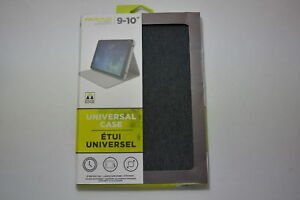 M-Edge Universal Case Folio Plus Multi-fit Gray Tablets 9'-10' iPad Pro Galaxy