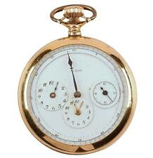 Rare 1893 Elgin Gold Filled Open Face Pocket Watch 3 Complications Unusual Dial