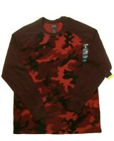 RALPH LAUREN POLO THERMAL LONG SLEEVED SHIRT MENS RED CAMO SIZE SMALL