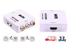Adaptateur RCA vers HDMI, adapter vidéo Mini AV vers HDMI compatible 1080P